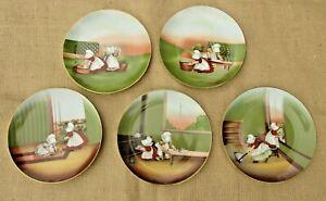 Vintage-Royal-Bayreuth-Sun-Bonnet-Babies-Days-of-the-Week-Plates