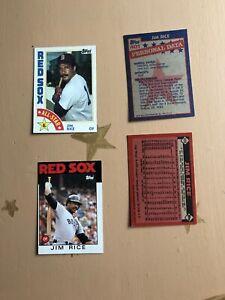 Jim Rice 1984 Baseball Cards