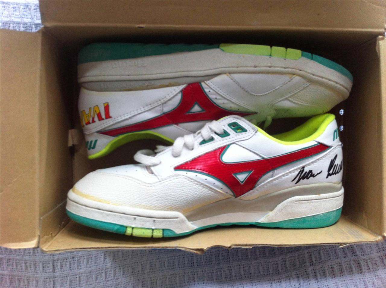 Ivan Lendl Mizuno talla 10 zapatos ultra Rare hermoso Adidas Nike Yeezy Jordania barato y hermoso Rare moda 6e494f