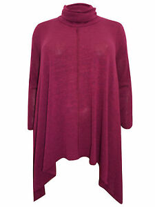 61815854b18 Womens plus size 16 18 top fine knit tunic longer length loose ...