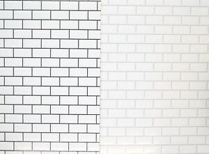 Dolls-House-Non-Embossed-Wall-Tiles-Large-A3-Sheet-Bathroom-Kitchen-Wallpaper