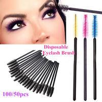Eyelash Disposable Mascara Wands Lash Brushes Applicator Tool Spoolers Extension