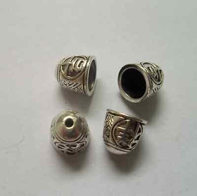wholesale 10/50/100pcs alloy metal Tibetan silver flowers Beads caps 11x10.5mm