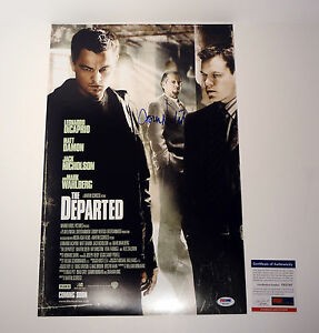 Jack Nicholson Signed Autograph The Departed Movie Poster PSA/DNA COA