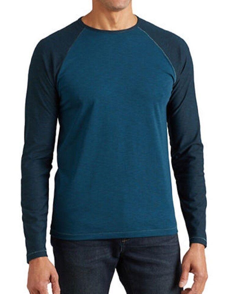 JOHN VARVATOS Star U.S.A. Dark Green Mix Raglan Shirt ( XXL ) Free Shipping