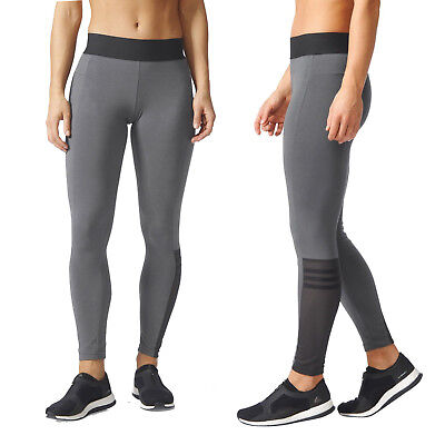 Radient Adidas Womens Id Takeover Tight Full Length Long Gym Leggings Fitted Yoga Pants