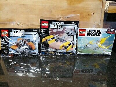 LEGO 30384 Snowspeeder 30383 Naboo 30461 Podracer 20 years Star Wars polybag Lot