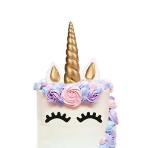 Das Bild Wird Geladen Einhorn Kuchen Topper Gold Birthday Cake Horn