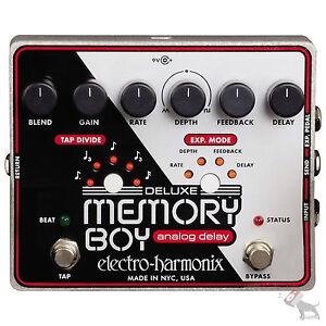 Electro-Harmonix-Deluxe-Memory-Boy-Analog-Tap-Tempo-Delay-Guitar-Effects-Pedal