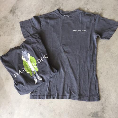 """Dog Limited /""""Fear of Dog/"""" mens t-shirt grey Medium"""