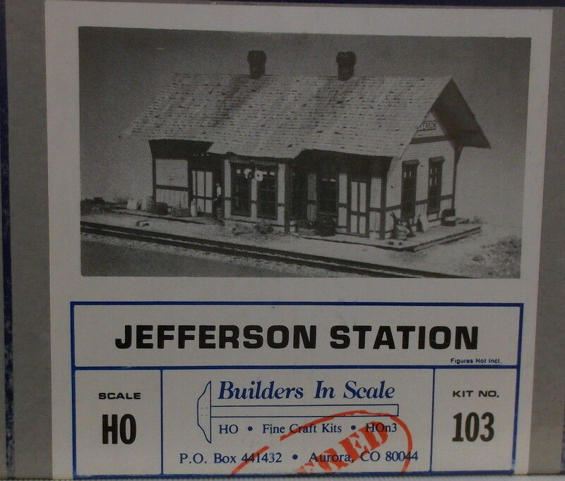 HO HOn3 CRAFTSMAN BUILDERS IN SCALE   JEFFERSON STATION KIT  103   NEW UNSTARTED
