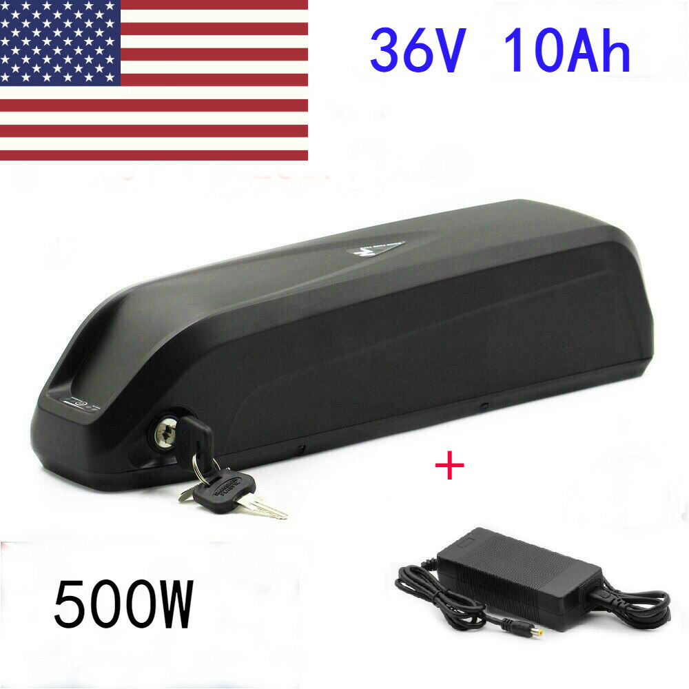 36V 10Ah 500W HaiLong Lithium E-Bike Battery + DCharger For Electric Bicycle