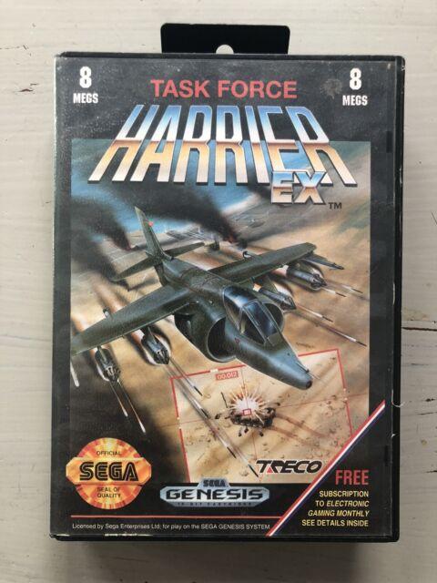 Task Force Harrier EX (Sega Genesis, 1991) Complete Clean Rare Video Game