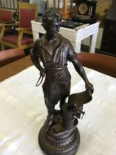 "Spelter Figure Blacksmith Tinsmith 19"""