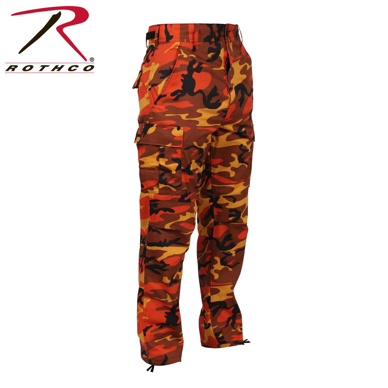 orange CAMOFLAGE MEN redHCO BDU Pants Savage orange Camo Military Cargo Fatigue