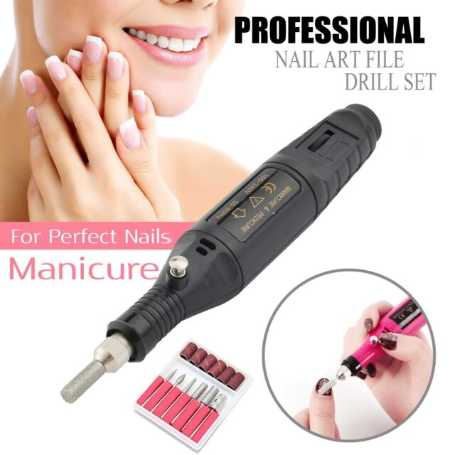 Us Professional Electric Nail File Drill Manicure Tool Pedicure Machine Set Kit