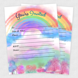 20-Rainbow-Baby-Shower-Invitations-Sprinkle-Invite-Birthday-Rainbow-Invitation