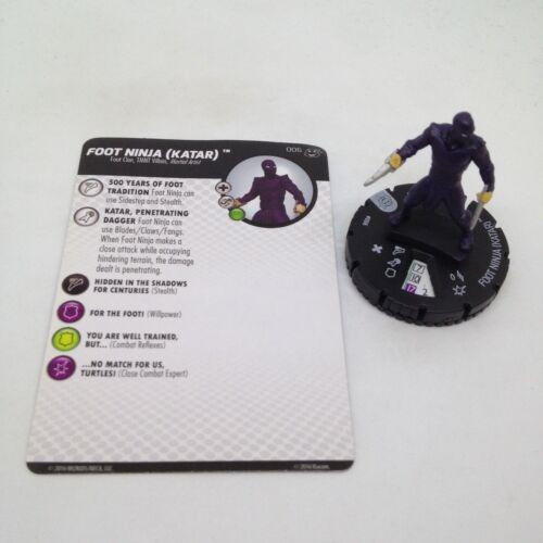 Heroclix Teenage Mutant Ninja Turtles 2 set Foot Ninja #006 Common figure w/card