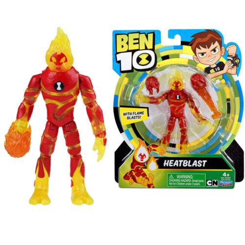"BEN 10 Heatblast with Flame Blasts Action Figure Toy 4.9/"" Inch"