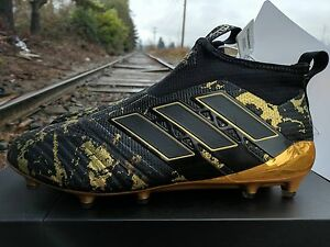 Details about ADIDAS POGBA PP ACE 17+ PURECONTROL FIRM GROUND CLEATS Black Matte GOLD BY9143