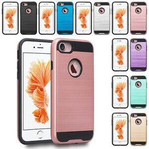 For-Apple-iPhone-8-Plus-7-Plus-Slim-Hybrid-Brushed-Case-Skin-Phone-Cover