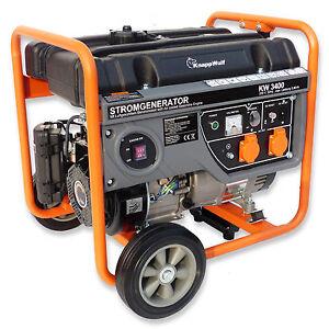 knappwulf stromerzeuger kw3400 generator notstromaggregat 1 phase 230v ebay. Black Bedroom Furniture Sets. Home Design Ideas