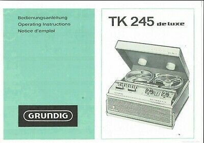 Grundig Bedienungsanleitung User Manual Owners Manual Für Tk 245 De Luxe Copy Up-To-Date-Styling Tv, Video & Audio