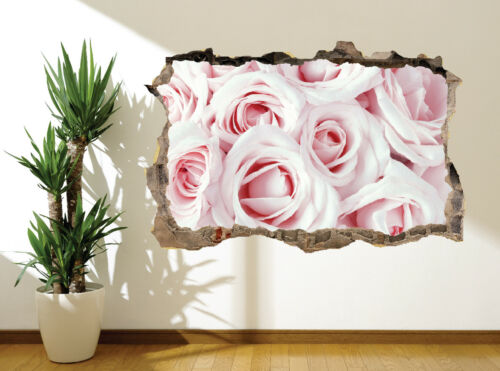 Stunning close up baby pink roses wall sticker wall mural 35405676