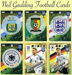 Panini FIFA 365 2018 ☆ FANS / INTERNATIONAL STAR ☆ Football Cards #334 to #405