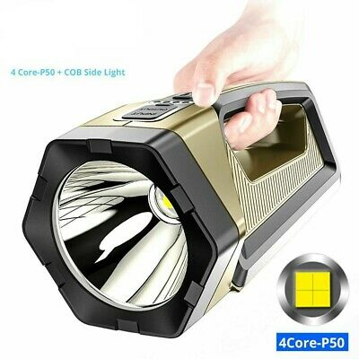 COB LED Magnetic Work Light Rechargeable Hand Torch Security Tactical Spotlight