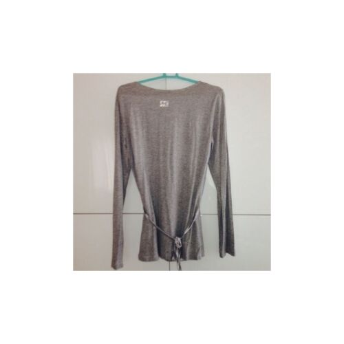 Lo l Strass Top Sul T Grigio Tg Retro shirt Equal Cintura Not rr6q1