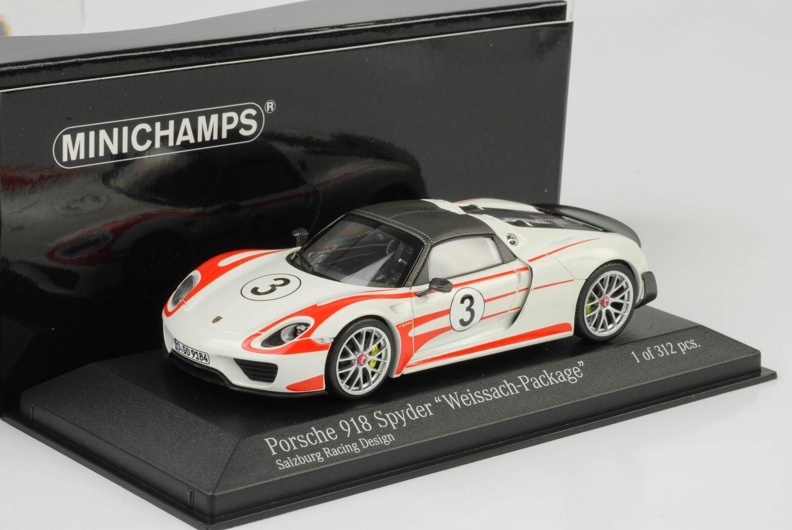 Superbe Noël sonné sonné, accueille accueille accueille les célébrations du nouvel an 2015 Porsche 918 Spyder Weissach Package Salzbourg Racing 1:43 MINICHAMPS | De Haute Qualité  28d83a