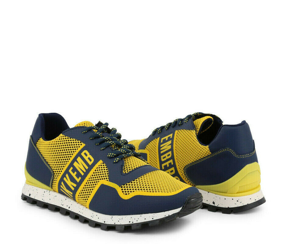 Dirk BIKKEMBERGS zapatillas para hombre-su suerte-ER_2084 - Azul Amarillo