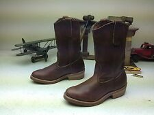MINTY MADE IN USA DISTRESSED BROWN LEATHER RED WING 1155 ENGINEER BOOTS SIZE 6 M