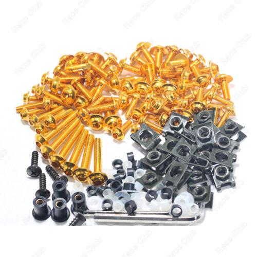 Gold Fairing Bolt Kit body screws Clips For Honda CBR1000 08-11 CBR1000RR 12-13