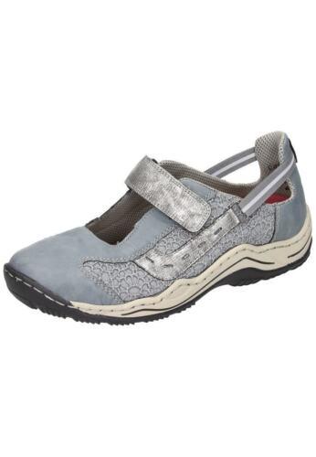 Rieker Halbschuhe Ballerinas Sneaker Damenschuhe blau 36-42 L0578-12 Neu29