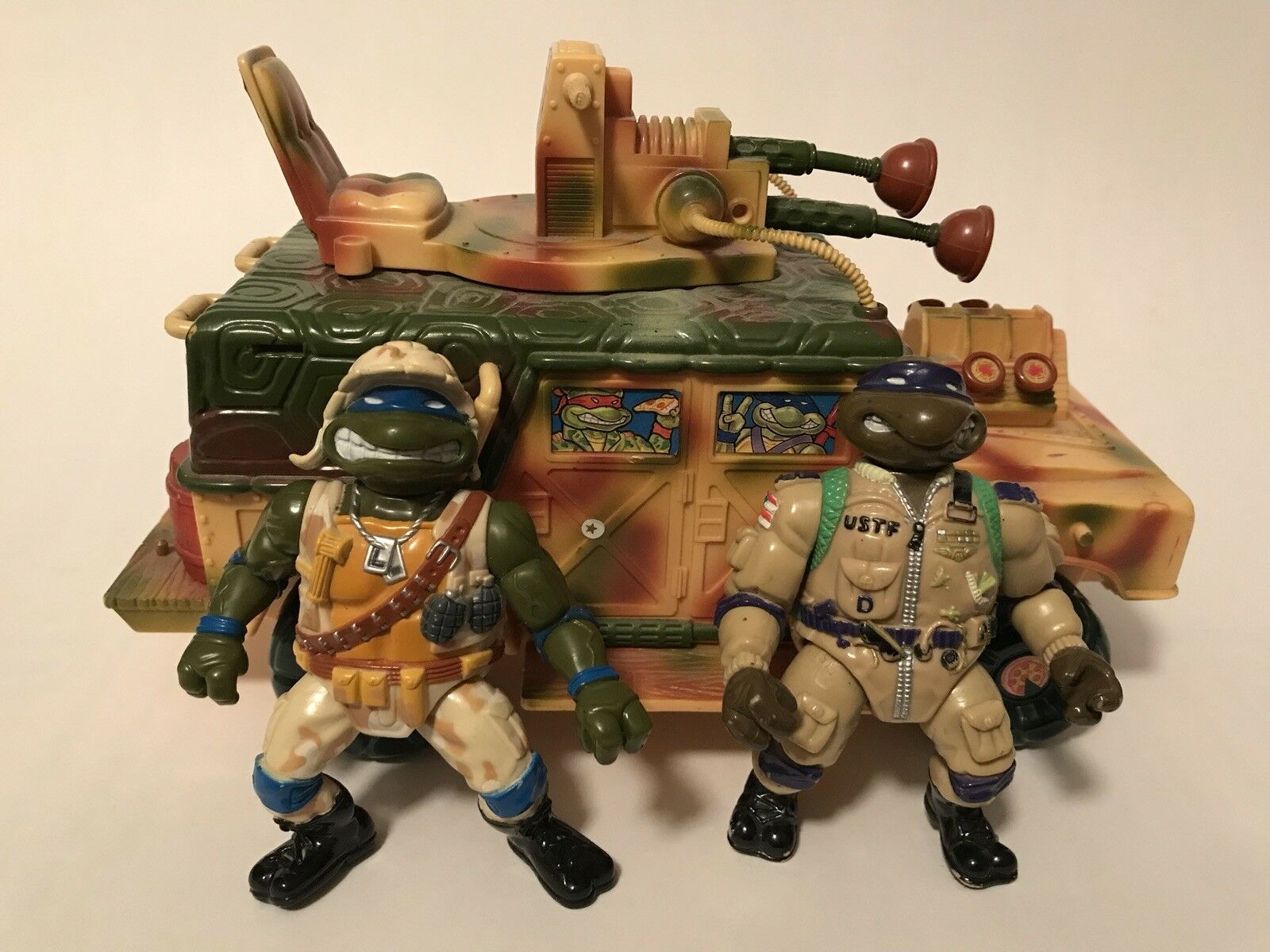 Teenage Mutant Ninja Turtles Playmates TMNT Vintage Military Sandcruiser Sandcruiser Sandcruiser 1992 d7fccf