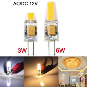 12V-AC-DC-WARM-COOL-WHITE-LED-GLOBE-G4-Light-Bulb-Garden-Camper-Rangehood