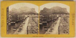Italia-Palermo-Installa-Pellegrino-c1865-Foto-Roberto-La-Stereo-Vintage-Albumina