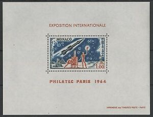 MONACO-YVERT-SPECIAL-M-SHEET-5-034-PHILATEC-EXHIBITION-1964-SPACE-034-MNH-XF-P002