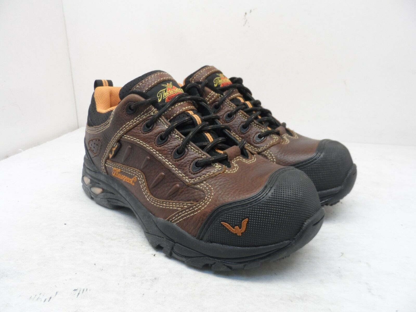 Thorogood Women's Static Dissipative Comp Toe Work Shoes Brown Leather Size 7.5M