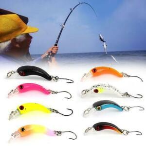 1xFishing Lure Trout Mini Wobbler Fishing Tackle Artificial Hard Bait Bass hot