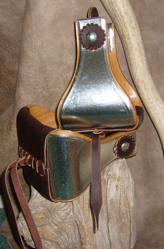 New Wide USA Made Metal Bound Bell  Stirrups 5  Step, With Leather pinkttes. G&E  all products get up to 34% off
