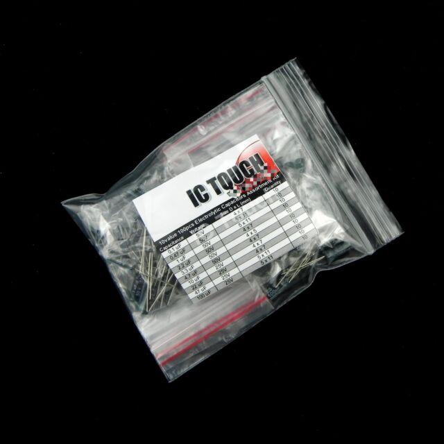 10value 100pcs Electrolytic Capacitor Assortment Kit (#003)