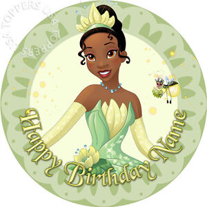 Edible tiana princess and the frog disney cake topper wafer paper image is loading edible tiana princess and the frog disney cake thecheapjerseys Images