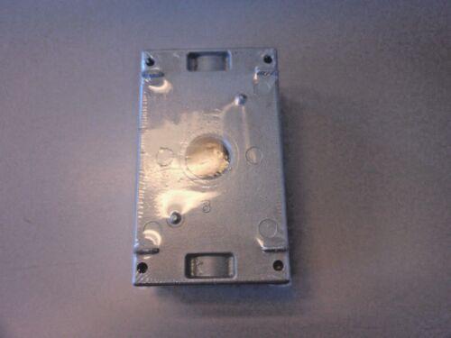 "T/&B Red Dot IH5S2-1 Weatherproof Outlet Box 1//2/"" Hubs 2/"" Deep, 1-Gang 5"