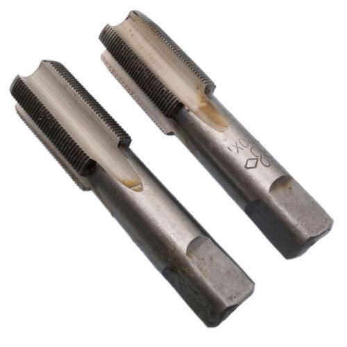 2* High Speed Steel Taper Plug Tap Right Hand Thread M20x1mm Pitch Tools Set Kit