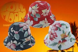 fd5a8022d21ed9 New Huf Aloha Aina Red Mens Flowers Floral Bucket Cap Hat | eBay