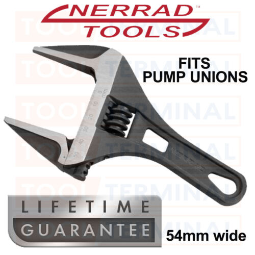 Nerrad Tools Super Extra Wide Stubby Wrench 54mm Adjustable Pump Union Spanner