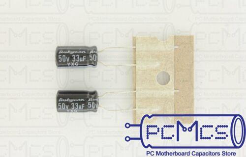 20 Pcs Rubycon YXG Series 50V 33UF Japan High ripple Low Impedance Capacitor